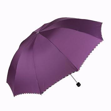 SFSYDDY-Doble Plegable Doble Paraguas Paraguas Paraguas De Tres Colores De Negocios Un