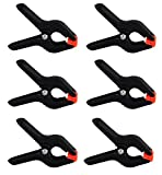 LB 6 PCS Black Nylon Muslin / Paper Photo Backdrop Background Spring Clamps, 4 inch