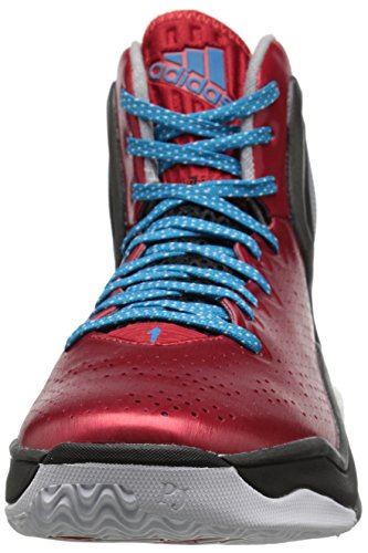 Adidas Performance D Rose 5 Boost scarpa da basket, Dark Base Verde, 11 M Us Scarlet/Solar Blue