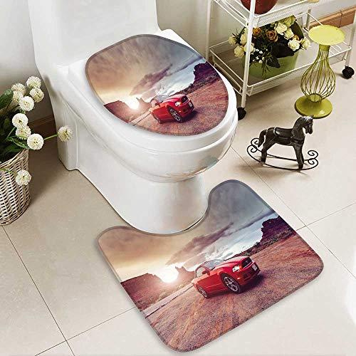 2 Piece Extended Bath mat Set Monument Valley