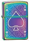 Zippo Custom Lighter: Ace of Spades Engraved - Spectrum 78747
