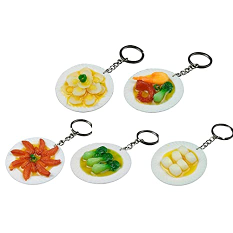 Toyvian 5 unids Llavero Mini modelo de comida llavero ...