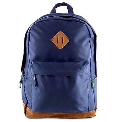 Benetton Mochila Tipo Casual, 14 litros, Color Azul: Amazon.es: Zapatos y complementos