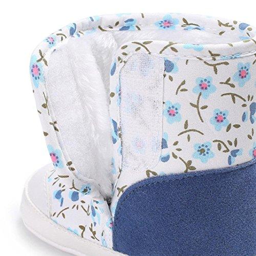 Baby Stiefel,Chshe Prewalker Säugling Süß Upper Baumwolle Sohle Stoff Tarnung Drucken Anti-Rutsch Schuhe Trainer Hellblau
