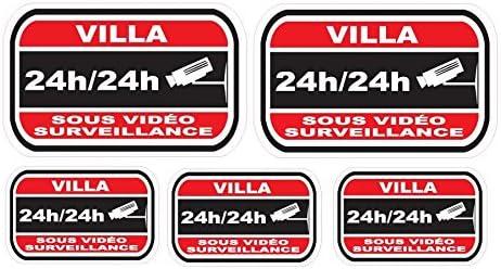 Pegatinas disuasivas para alarma y cámaras de seguridad del ...
