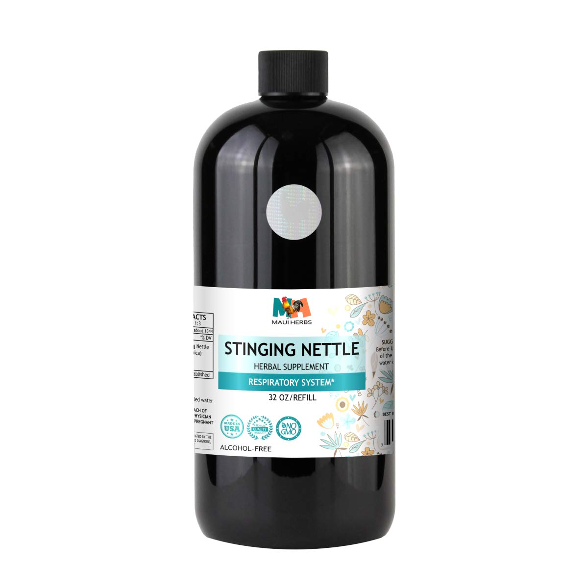 Stinging Nettle Tincture Alcohol-Free Liquid Extract, Organic Stinging Nettle Leaf and Root (Urtica Dioica) (32 FL OZ)
