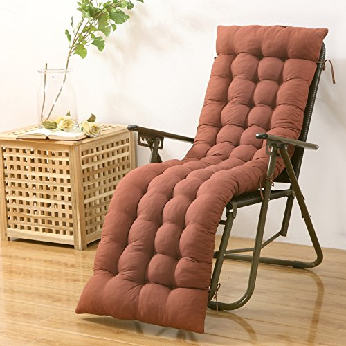 Thickened four quarter folding chair, cushion cushion, lunch break, cane chair cushion, elderly chair, bamboo chair rocking chair cushion, rocking chair cushion (excluding chairs),48155cm,Coffee by SJERC