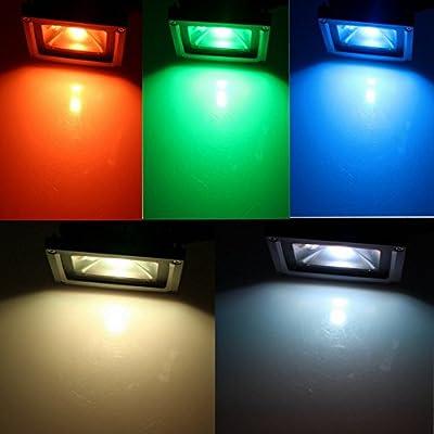 Green, 50W : 10W LED Floodlight Lamp 20W 30W 50W PIR Motion Sensor Security Refletor Foco led Spotlight RGB Exterior LED Outdoor Lighting
