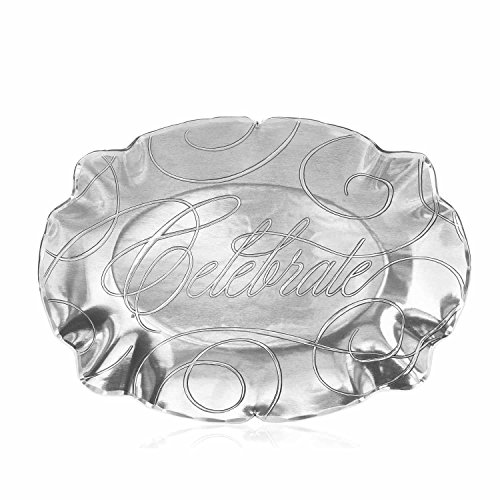 Wendell August Forge Celebrate Baroque Oval Tray, Small, -