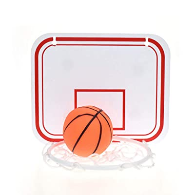 LARNOR Indoor Basketball Hoop Portable Basketball Hoop Folding Suspension Free Punch Mini Plastic Basketball Frame (a, 20 × 16 cm): Toys & Games