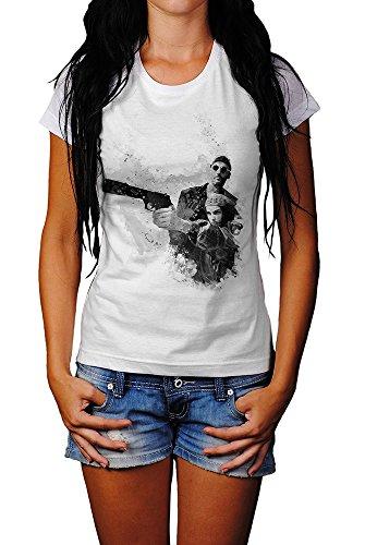 Leon Der-Profi T-Shirt Mädchen Frauen, weiß mit Aufdruck