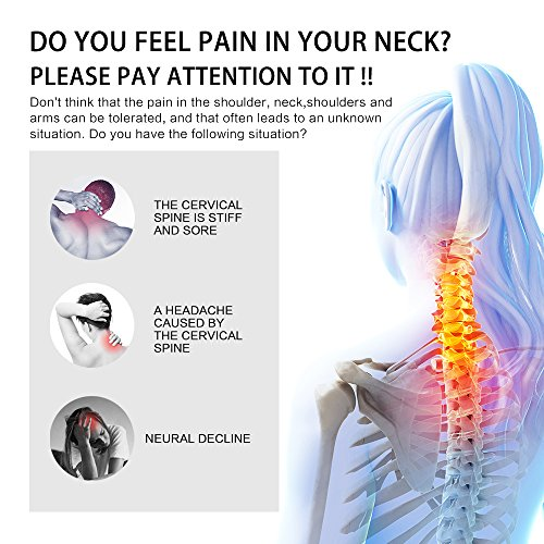 Patented FDA Guaranteed New Medical Neck Cervical Traction Device Portable Home Use, Therapy Unit Provide Relief for Neck and Upper Back Pain, Dizziness and Limb Numbness. by ALPHAY (Image #1)