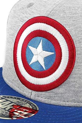 Azul Logo América Cap Marino Gris Azul Shield gris Capitán Marino Azul Azul Snapback EqFW00nf