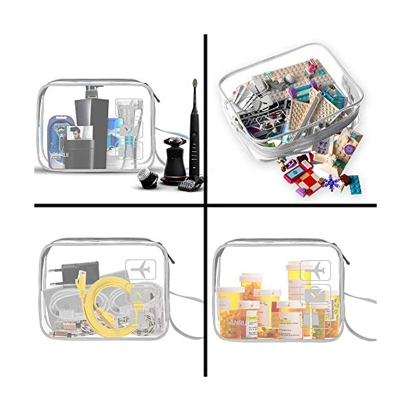 3pcs-TSA-Approved-Clear-Travel-Toiletry-Bag-With-Handle-Strap-ANRUI-Airline-Kit-3-1-1-Clear-Liquids-Toiletries-Cosmetics-Organizer-Carry-On-Luggage-for-Women-and-Men