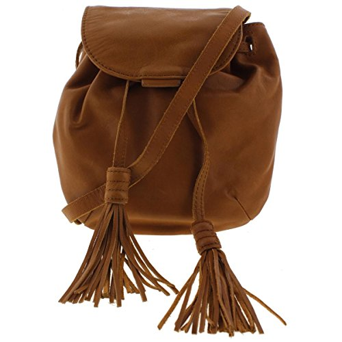 Boho-Chic Vacation & Fall Looks - Standard & Plus Size Styless - Lucky Brand Jordan Leather Mini Cross Body Bag, Tobacco, One Size