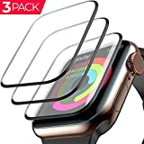 [3 Pack] Apple Watch Screen Protector (44mm Compatible iWacth Series 4) 3D Tempered Film Max Coverage Screen Protector HD Clear Anti-Bubble for Apple Watch 44mm Series 4