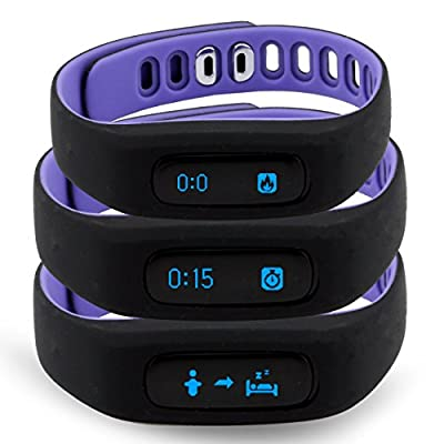Tushi Wireless Waterproof Touch Screen Pedometer + Activity Tracker Wristband Fitness Smart Bracelet & Sleep Monitor + Bluetooth sync with Smartphones and Tablets (iOS and Android Compatible)