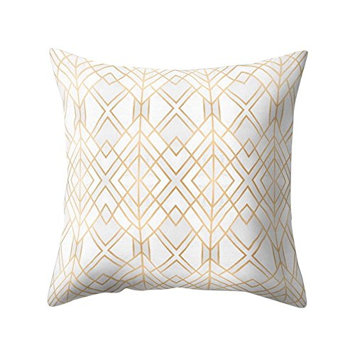 iYBUIA Special Design Geometric Design Cushion Square Throw Pillow Cover Case -
