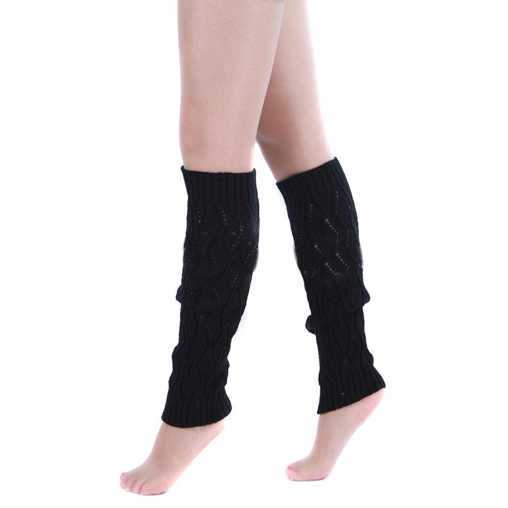 MERSUII@ Hollow Out Winter Leg Knee High Knit Knitting Boot Socks Legging