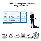 FOOTLOOSE Knee High Compression Socks, for Men and Women, 15-20 mmHg, 3 Pair