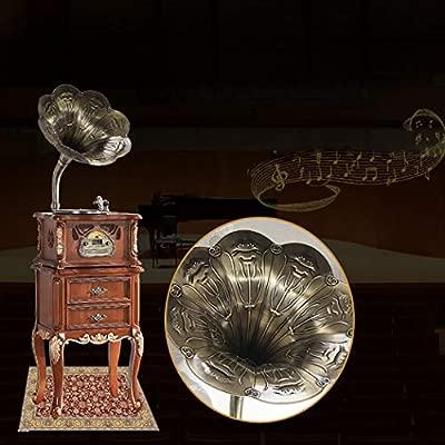 RAPLANC Tocadiscos Retro clásico Big Horn, el Altavoz Retro con ...