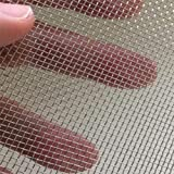 "(Pack of 2) Stainless Steel Woven Wire Mesh SS304 Garden Wire Mesh Replacements Cabinets Wire Mesh Window Screen Mesh 5.9""X8.2"" (150mmX210mm)"