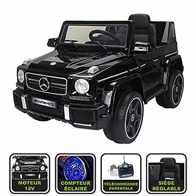 4x4 électrique pour enfant Mercedes AMG Cristom® licence Mercedes 12V - noir
