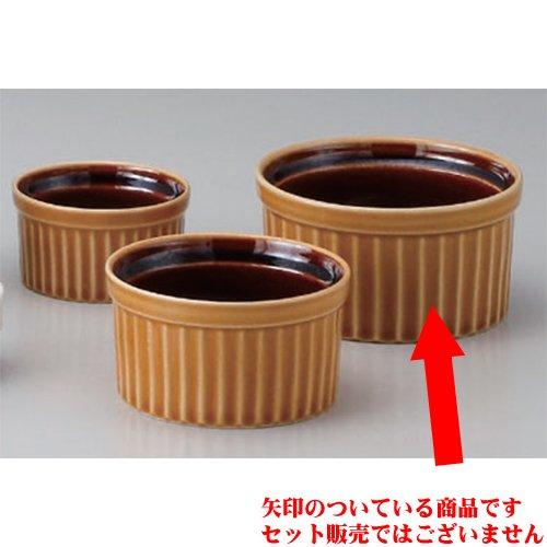 Souffle Plate utw680-28-514 [4.1 x 2.2 inch 23floz] Japanece ceramic Caramel 4 inch souffle tableware