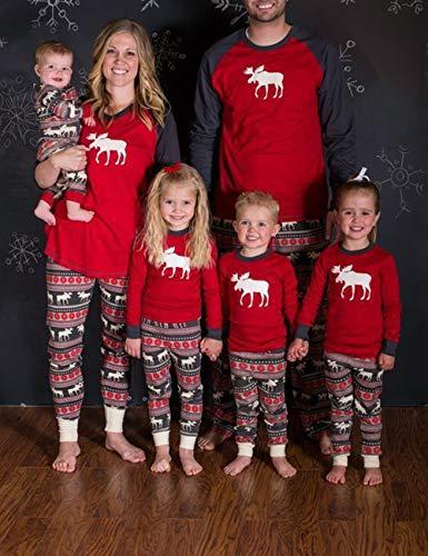 Dad Padre Famiglia Xmas Adulti Pantaloni Pigiama Lunghi Natalizio Bambini Di E Nightwear Stampato Besbomig figlio Top Outfits Animale Bxqw4f4