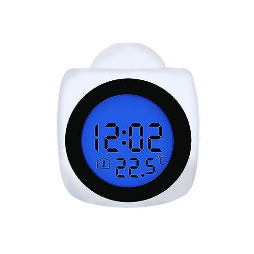 Y1cheng Despertador Proyección Digital Reloj De Alarma Voz Que ...