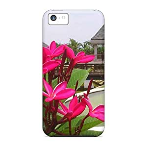 ipod touch4 Relaxing Garden Print High Quality Tpu Gel Frame Case Cover