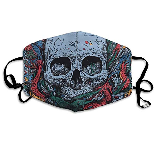 (Skull Dope Art Mouth Chic Mask Unisex Dust FaceChic Mask Reusable Chic Mask for Men and)