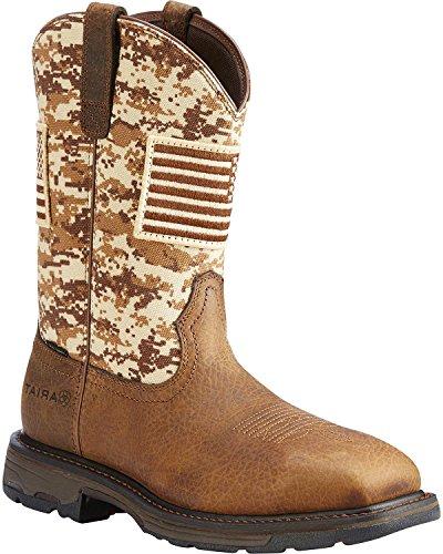 Ariat Men's Workhog Patriot Western Boot Steel Toe Brown 7 D by Ariat (Image #5)