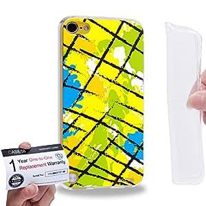 Case88 [Apple iPod Touch 5] Gel TPU Carcasa/Funda & Tarjeta de garantía - Art Fashion Patched Up Pattern C 2532