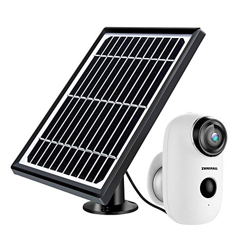 Solar Powered Wireless Indoor/Outdoor Camera, Rechargeable Battery Powered Home Security System,...