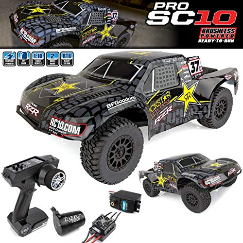 Team Associated 70015 ProSC10 Rockstar Ready to Run Brushless 2WD Short Course Truck