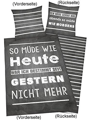 Herding 4459216050412 Bettwäsche, Baumwolle, grau, 200 x 135 x cm