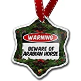 Christmas Ornament Beware of the Arabian Horse - Neonblond