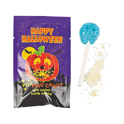 Fun Express - Halloween Sucker With Popping Candy for Halloween - Edibles - Hard Candy - Sweet Creams & Hard Candy - Halloween - 36 Pieces]()