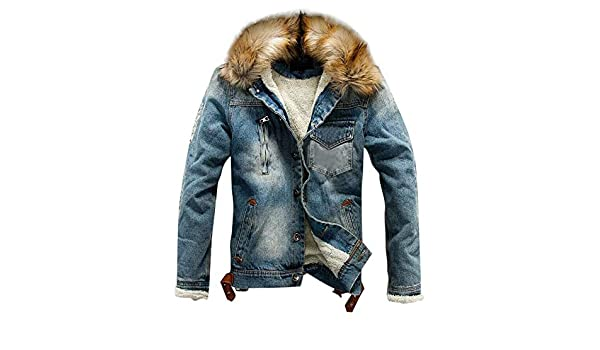 Amazon.com: Clearance Sale for Men Coat.AIMTOPPY Mens Autumn Winter Pocket Button Rinsing Flick Denim Hooded Jacket Top Coat: Computers & Accessories