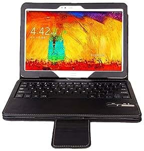 IVSO Samsung Galaxy Note 10.1 2014& Tab PRO 10.1 Edition Bluetooth Keyboard Portfolio Case - DETACHABLE Bluetooth Keyboard Stand Case / Cover for Samsung Galaxy Note 10.1 2014 Edition& Tab Pro 10.1 Tablet (Black)