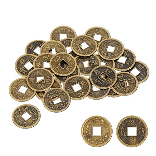 (Beistle 57856 Authentic Chinese Good Luck Coins, 1 Inch, 25 Coins in)