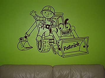 Bob The Builder Wall Sticker, Bob The Builder Wall Art Decals For Nursery  Bedroom Decoration Part 39