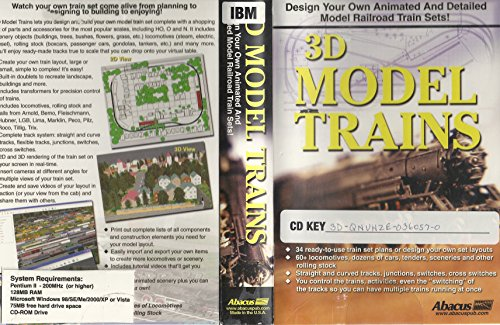 Abacus 3D Model Trains for Windows: Design Your Own Animated and Detailed Model Railroad Train -