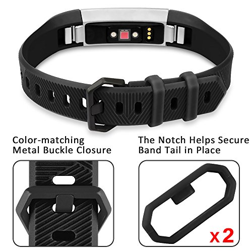 Fitbit Alta HR Bands Fitbit Alta Bands Black Small,RedTaro Adjustable Replacement Accessory Bands/Straps/Bracelets for Fitbit Alta HR/Fitbit Alta for Women/Men(no Fitbit Fitness Trackers)
