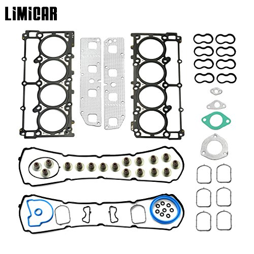 (LIMICAR Cylinder Full Head Gasket Set For 04-08 Dodge Durango & 03-08 Dodge Ram 1500 & 05-08 Chrysler 300 & 05-08 Jeep Grand Cherokee 5.7L Vin D 2 HS26284PT)