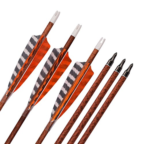 YLS 30 inch Archery Carbon Turkey Feather Arrows Spine 400 f