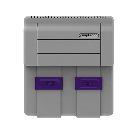 Rasptendo SNES Classic Inspired Raspberry Pi 3 B/B Plus Case   Retro Gaming  Arcade Console Emulator with Functional Power Switch, Reset, and Safe
