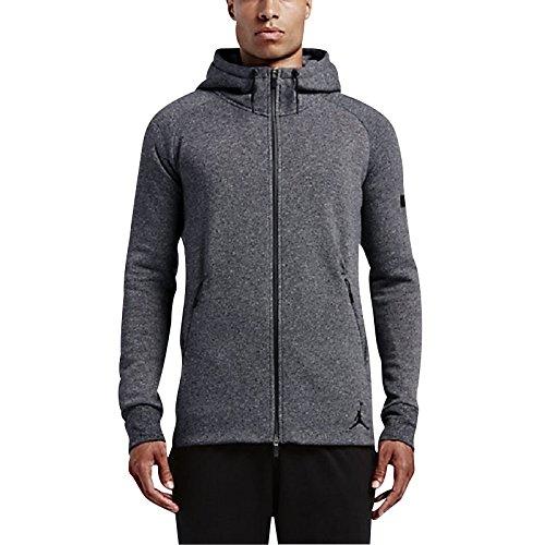 Nike ICON FLEECE FZ HOODIE (809470-010) Black/Grey 2XL by NIKE