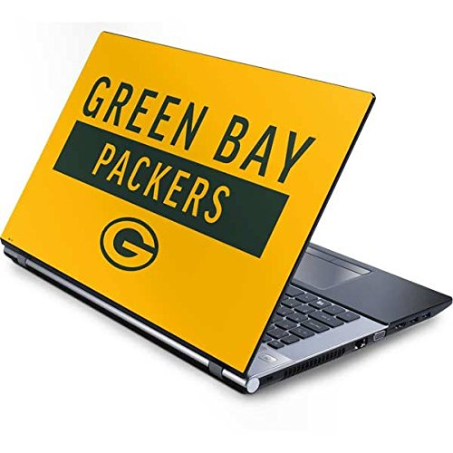 Skinit NFL Green Bay Packers Generic 13in (12.803in w X 8.996in h) Laptop Skin - Green Bay Packers Yellow Performance Series Design - Ultra Thin, Lightweight Vinyl Decal Protection (Bay Green Laptop Packers Generic)